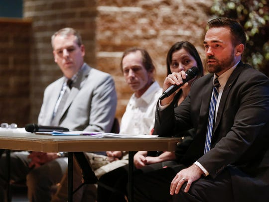 Rep. Nick Schroer speaks during a panel discussion