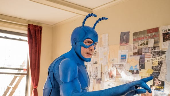 Peter Serafinowicz as The Tick on 'The Tick.'