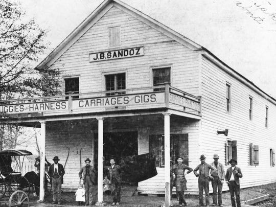 The first J.B. Sandoz Hardware Store, circa 1893