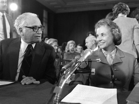 Sen. Barry Goldwater, R-Ariz., and Supreme Court nominee