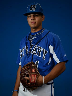 St. Mary shortstop Joey Castellanos is a repeat selection to the All-North Jersey baseball first team.