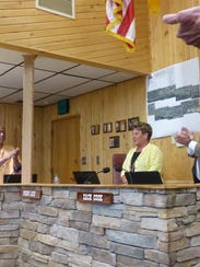Ruidoso Village Manager Debi Lee received a standing
