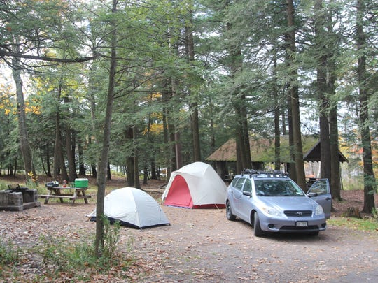 Our campsite at North South Lake Campground in Haines Falls, New York on October 22, 2011.