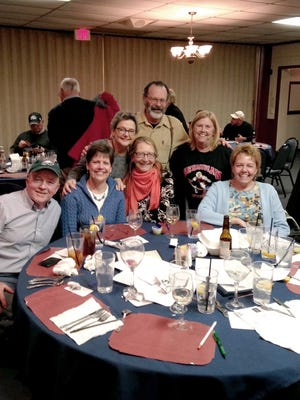 Last year's winning team for the Adams County Arts Council's Trivia Night at The Pike was Eight Shades of Gray Matter.  Pictured, from left, are: Bob Rhodes, Nancy Cook, Ruthmary McIlhenny, Kathy Glahn, Bob McIlhenny, Brenda McCabe, and Joh Ricci.