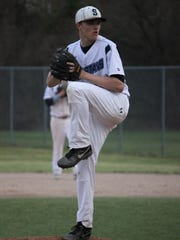 Dan Bos demonstrates his smooth pitching delivery for