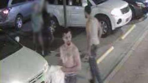 Two men in this photo are sought in connection with a Thursday night shooting in Gastonia.