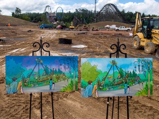 Construction is underway at Dollywood's newest expansion