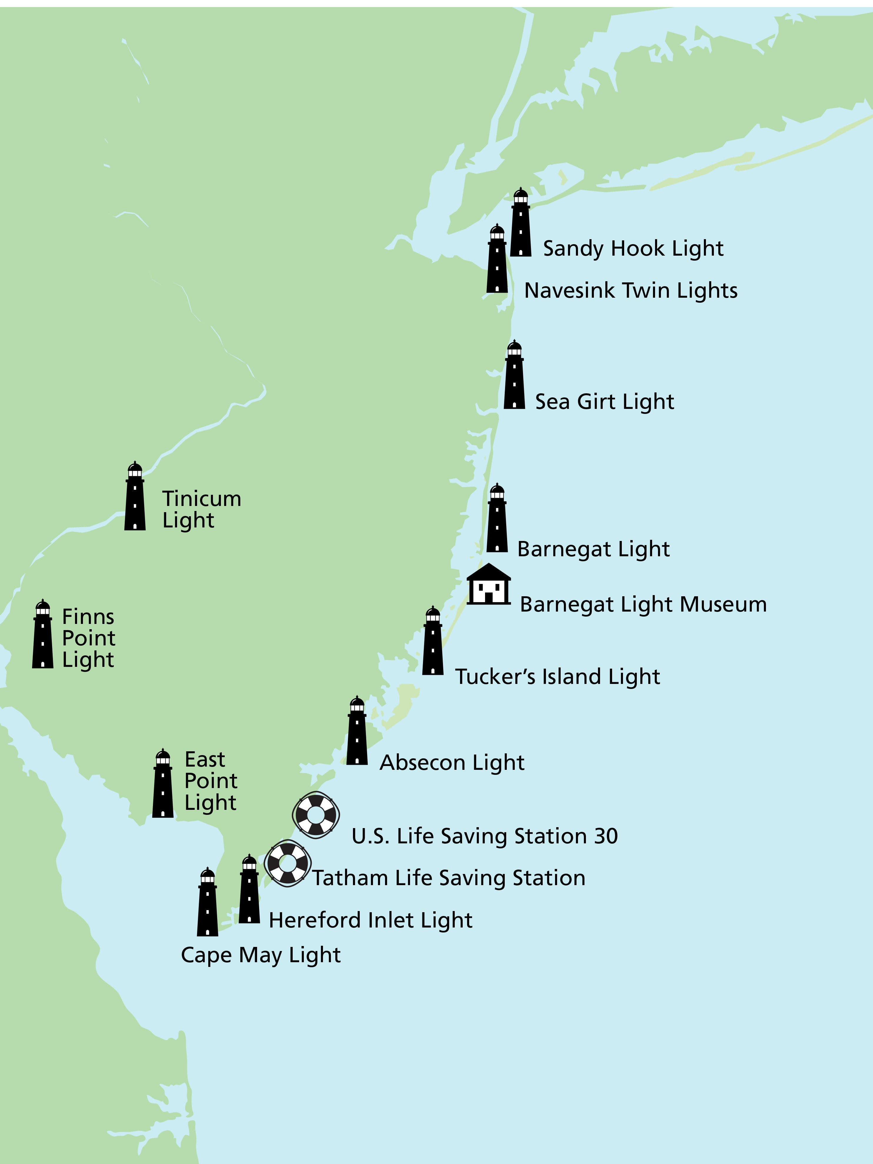 National Lighthouse Day: How to see all 10 NJ lighthouses
