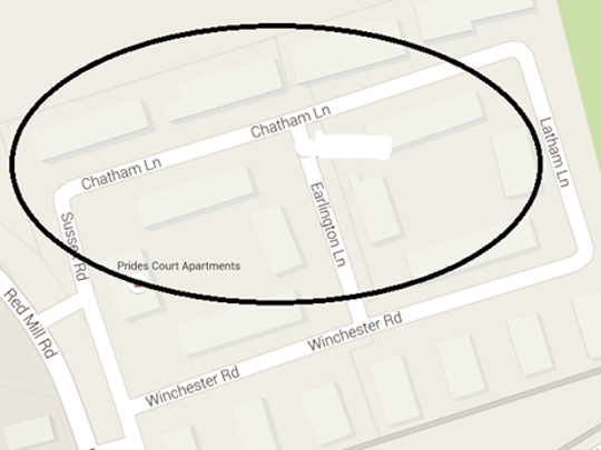 The location of the shooting on Saturday night.
