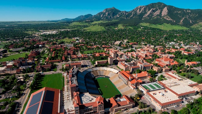 The University of Colorado campus in Boulder is pictured.