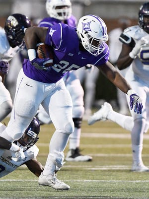 Anthony Wilcox (25), Furman's leading returning rusher, should get an early chance to carry against Wofford on Saturday night.