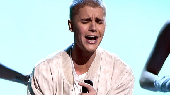 """Justin's """"ouch!"""" face."""