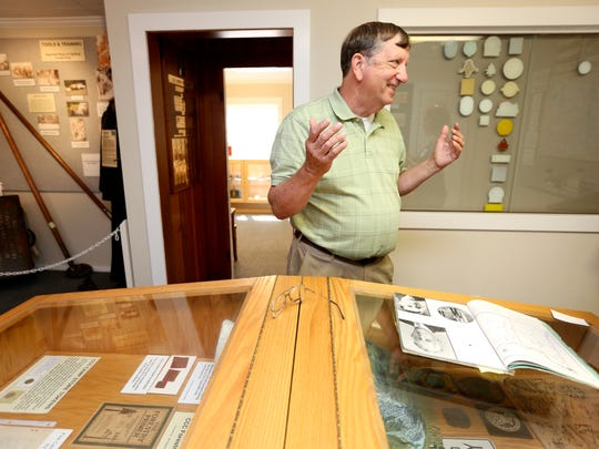 Alan Maul, coordinator at the Oregon Forest History Center, talks about the history of the Civilian Conservation Corps and the memorabilia the center has collected on Wednesday, July 20, 2016.