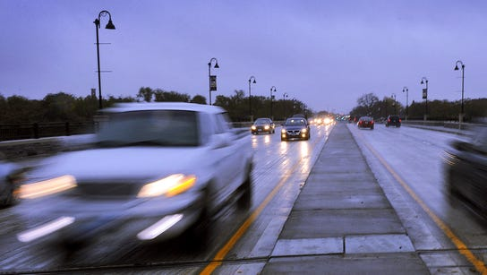 Cars are a blur as they whiz along the new Granite