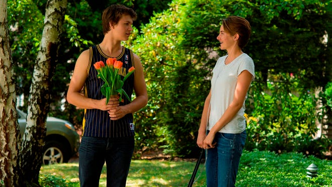 "Ansel Elgort, left, and Shailene Woodley portray Indianapolis teenagers in ""The Fault in Our Stars"""