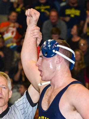 Fowlerville four-time state champion Adam Coon had the best start by a true freshman in Michigan history. Coon climbed to No. 1 in the rankings at heavyweight after starting the season 23-0.
