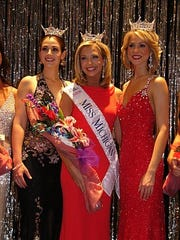 Ashlee Baracy (center) was Miss Michigan 2008 and when on to finish in the top 10 in the Miss America pageant in 2009.
