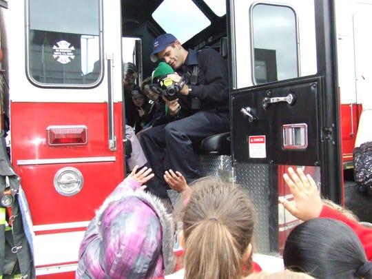 Sayreville Fire Department visit St. Stanislaus Kostka