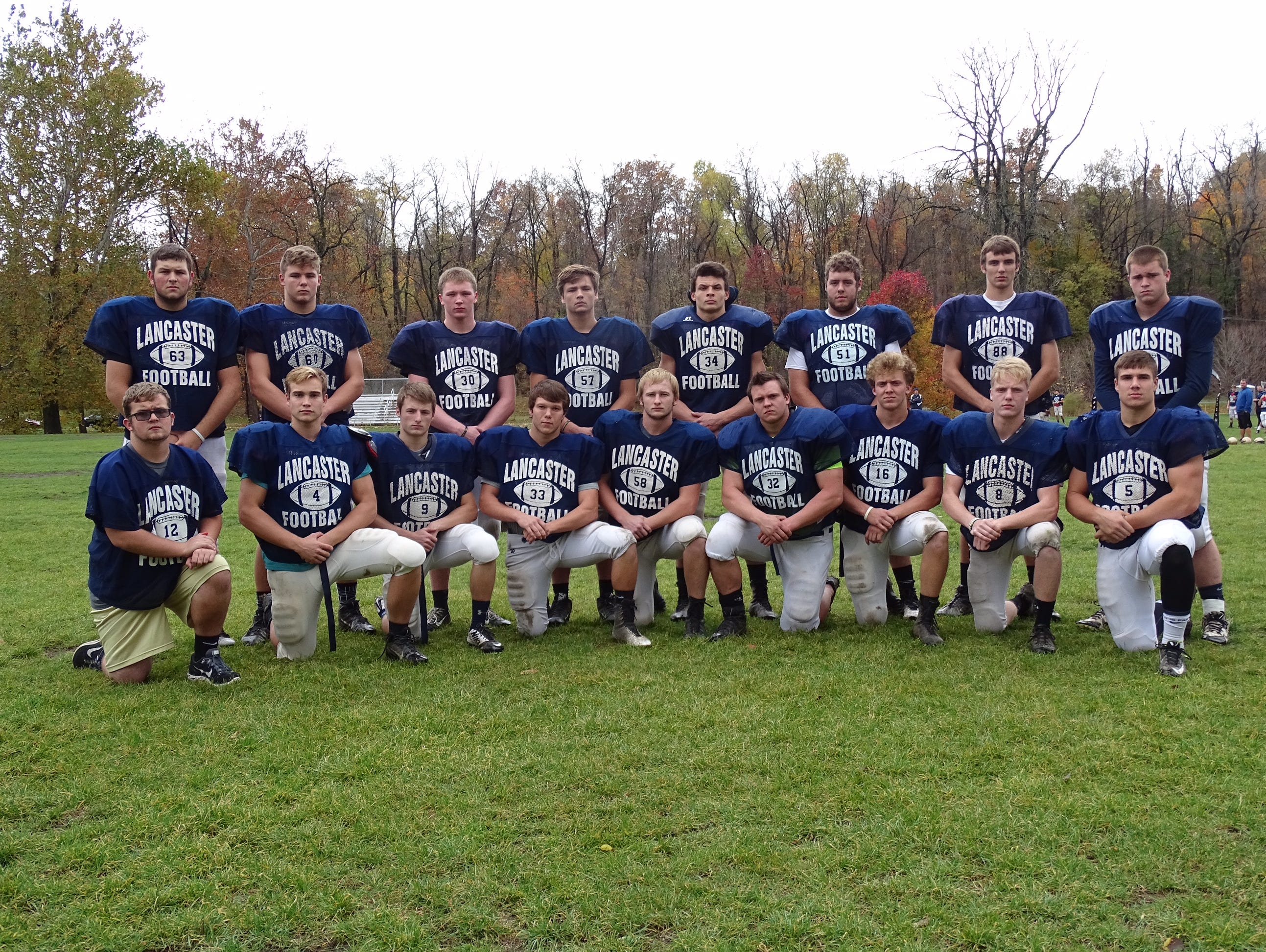On Friday against Newark, Lancaster will host senior night. Senior players include: front row, left to right; Director of Football Operations Andy Reliford, Drew Smith, Ashton Walker, Tyler Carter, Ryan Roseberry, Ryan Fitchpatrick, Trevor Monk, Ty Spires and Isaac Goss. Second row, L-R: Trevor Worthman, Dillon Denault, Eric Deluse, Evan Highley, Ryan Edwards, Chris Voight, Brandon Clark and Dillon Sharp.