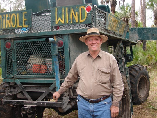 Outdoorsman Lynwood Scott, owner of the swamp buggy Seminole Wind, will share his family's stories and photo albums of time spent in Big Cypress Swamp.