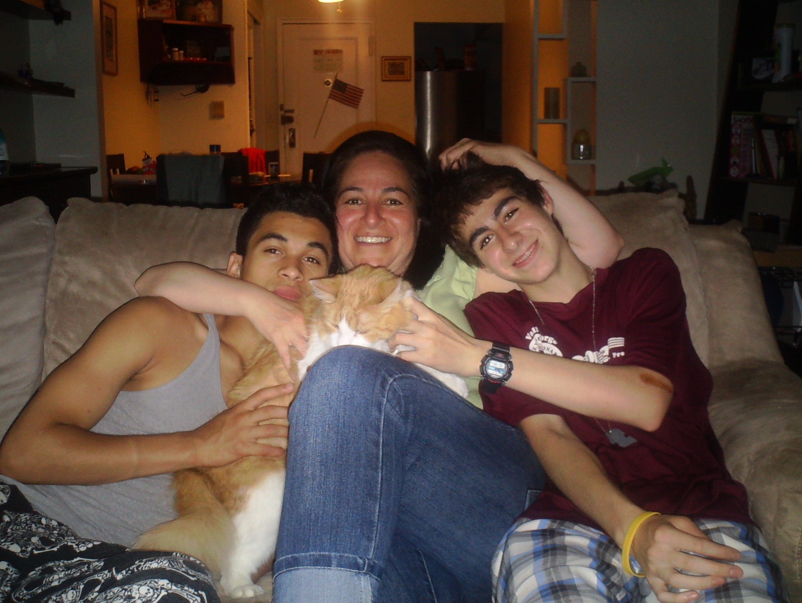 The Tera family: Moises (left), Hope and Ian.
