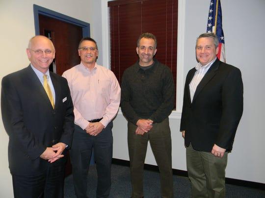 The Hunterdon County YMCA 2016 new board members: Bruce Black, Paul Norian, Andy Indeck, Pat Stoik.