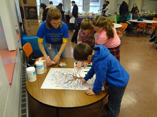 A variety of games, activities and basket raffles were offered as part of the Washington Elementary School Carnival fundraiser.