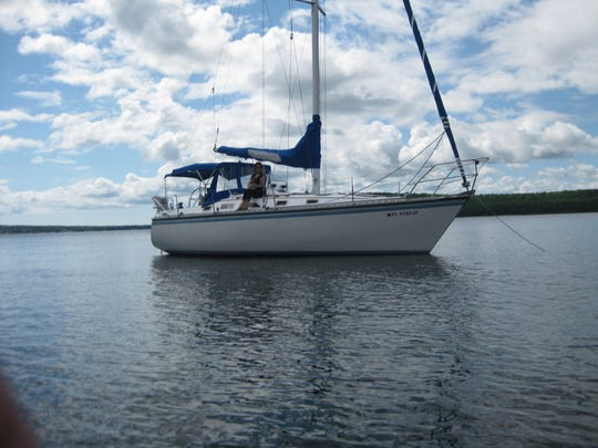 Robin Urban occasionally rents out his 34-foot sailboat through AirBnB when it is moored in Sturgeon Bay.