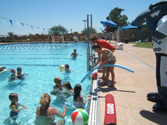 There are many programs around the state that offer swim lessons like the ones shown here at El Dorado Aquatic Center.