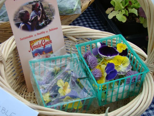 Numerous famers markets, co-ops and grocery stores carry fresh crops and edible flowers from local vendors and farmers in California.