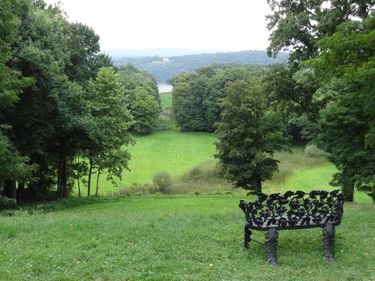A view from the Locust Grove Estate in Poughkeepsie, looking out to the Hudson River.