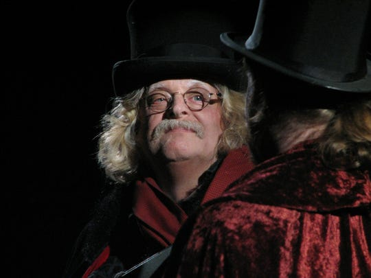 "Bruce Curless stars as Scrooge in ""Scrooge the Musical"" at the Ritz Theatre in Oaklyn."