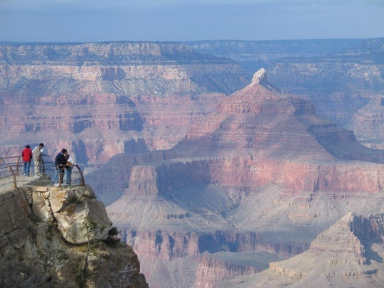 If you're lucky, you'll be one of the puny humans to see the Grand Canyon in all its glory, even in winter. January and February are the least busy times at the park's south rim.