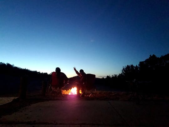 Our campground routine is enjoyable. I set up camp