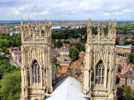 Views from York Minster, England