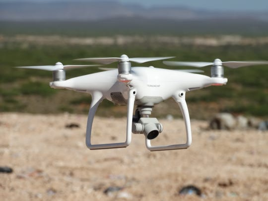 The drone hovers over Corralitos Regional Landfill