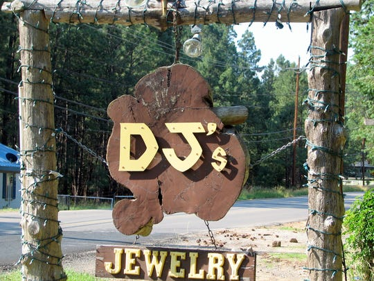 DJ's sign on Carrizo Canyon Road mark;s the entrance to the shop.