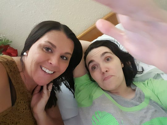 This is Vanessa Stirewalt (left) and her sister, Ashley Harrison. Harrison is severely disabled and has been in a nursing home since 2003. Stirewalt says the injuries were caused by Kevin Engh, who was shot in 2012 by Marya Von Brandt.