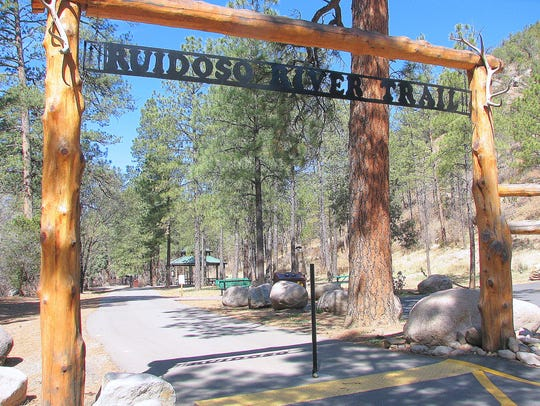 Ruidoso River Trail begins at Two River Parks and provides