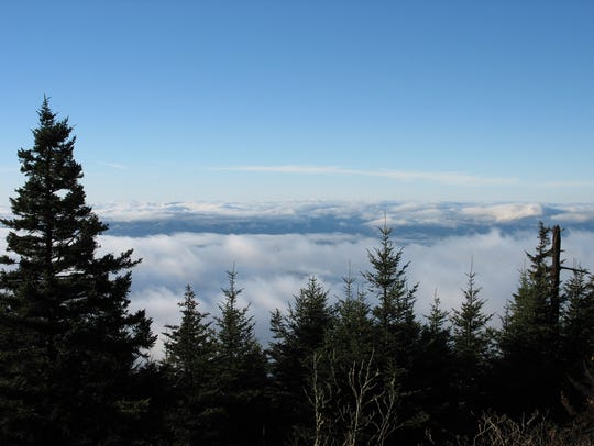 A view from the Mountains-to-Sea Trail at Clingmans Dome in the Great Smoky Mountains National Park. The Smokies is the most visited national park in the country, with 11.4 million visitors in 2018.