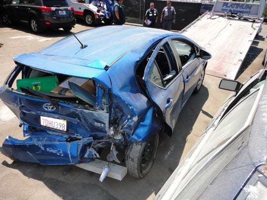 This is a photo of John Slade's car. Slade died after a hit-and-run crash in Ventura.