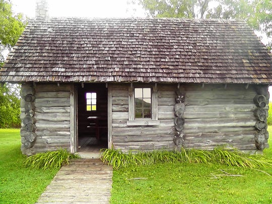 Outside of Pepin, visitors can explore a replica of