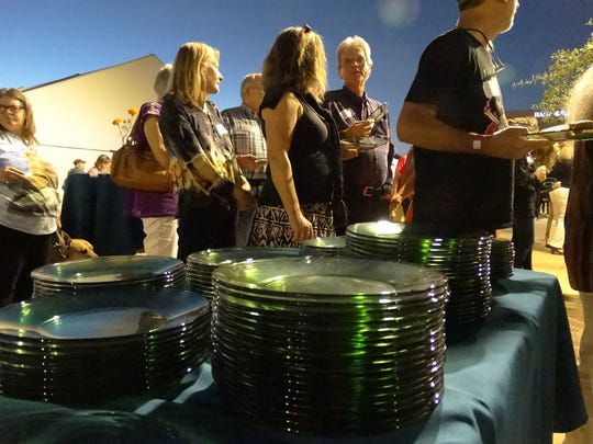 Glass plates and stemware provided at the gala must be washed; but by using them SWEC shows the Zero Waste effort, avoiding the enormous trash burden that might have been created at the event hosting more than 300 guests.