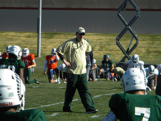 CSU football coach Mike Bobo, who received a three-year