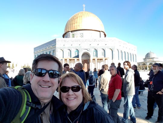 Ryan and Missy Fraser at The Dome of the Rock.