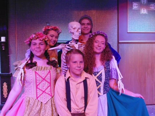 "The Barn Theatre summer campers who were cast in ""Young Frankenstein"" were Elizabeth Lienhardt, Aurora Jenkins, Auston Blackwell, Zoe Flagg, and Brian Grien."