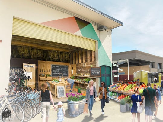 The market could include locally grown produce, art