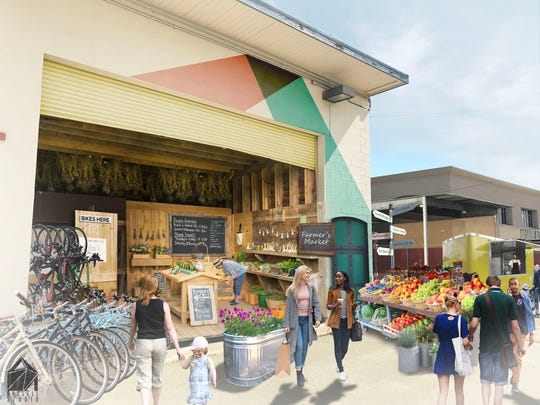 The market could include locally grown produce, art for sale and bikes to rent.