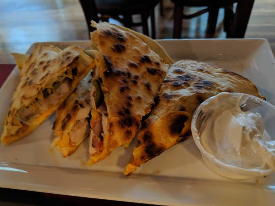 Dicky's chicken quesadillas.