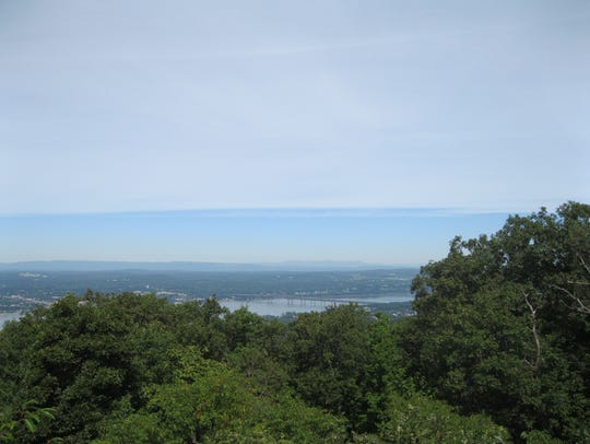 Views of the vistas from the hiking trails in the Hudson